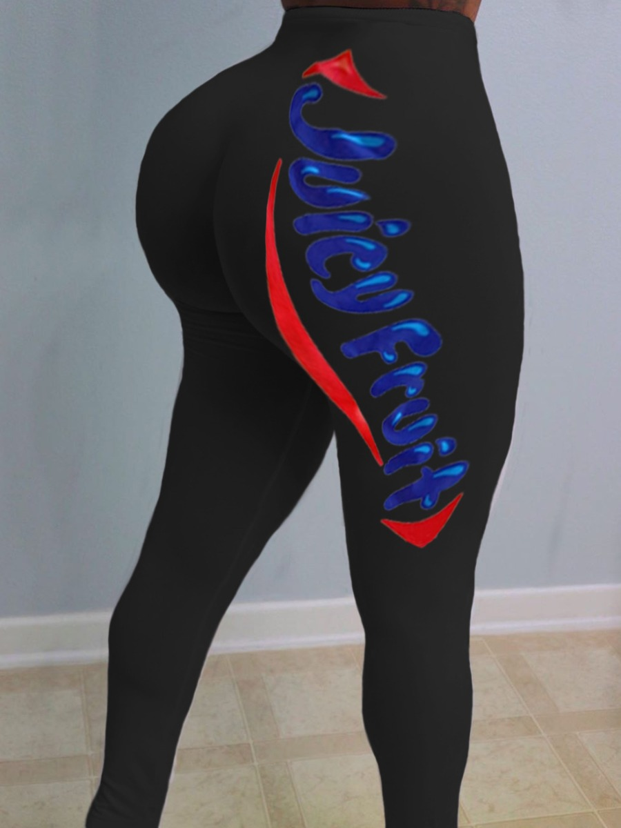 Lovely Sportswear Letter Print Black Pants фото