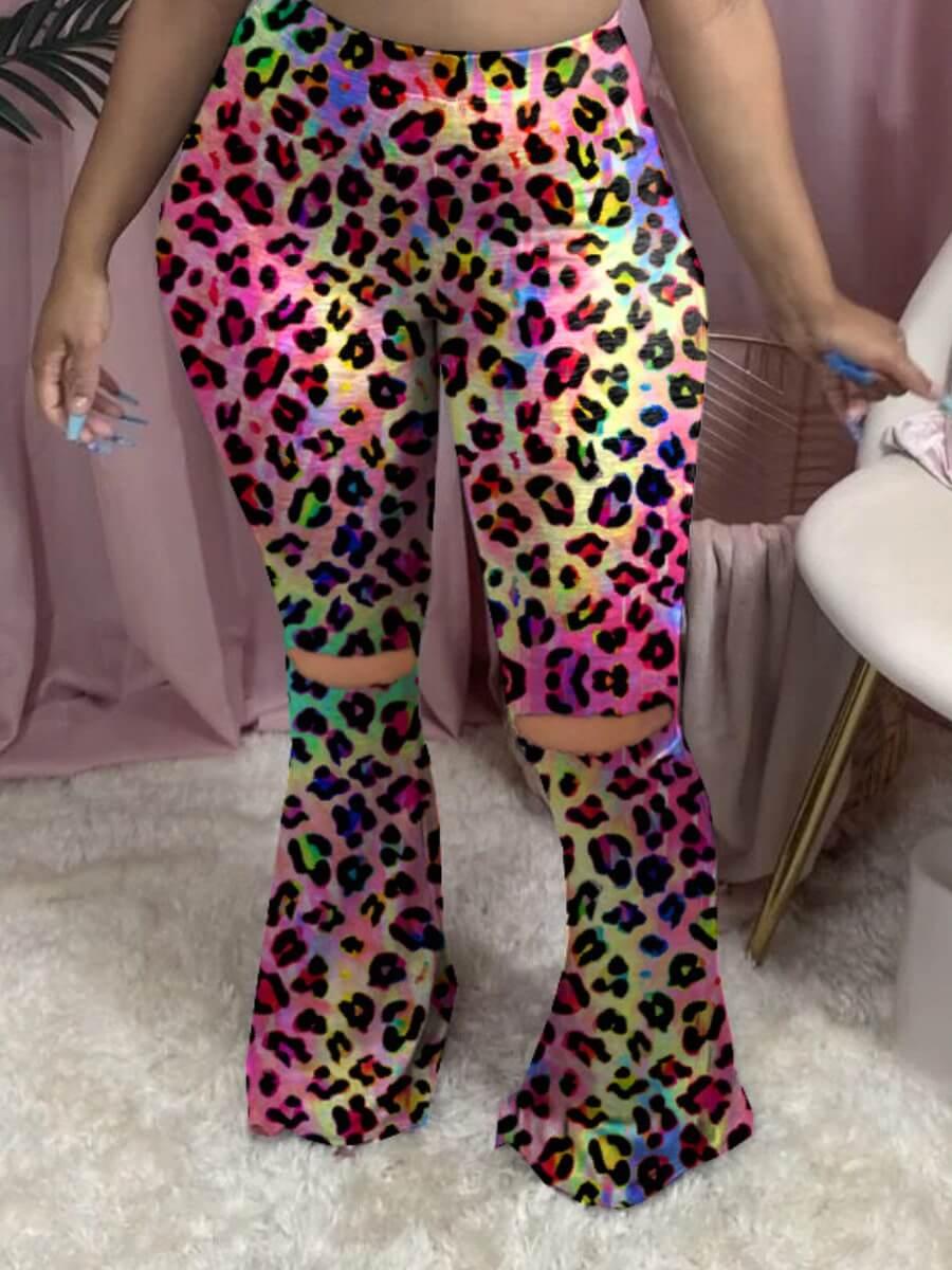 Lovely Stylish Broken Holes Multicolor Pants фото
