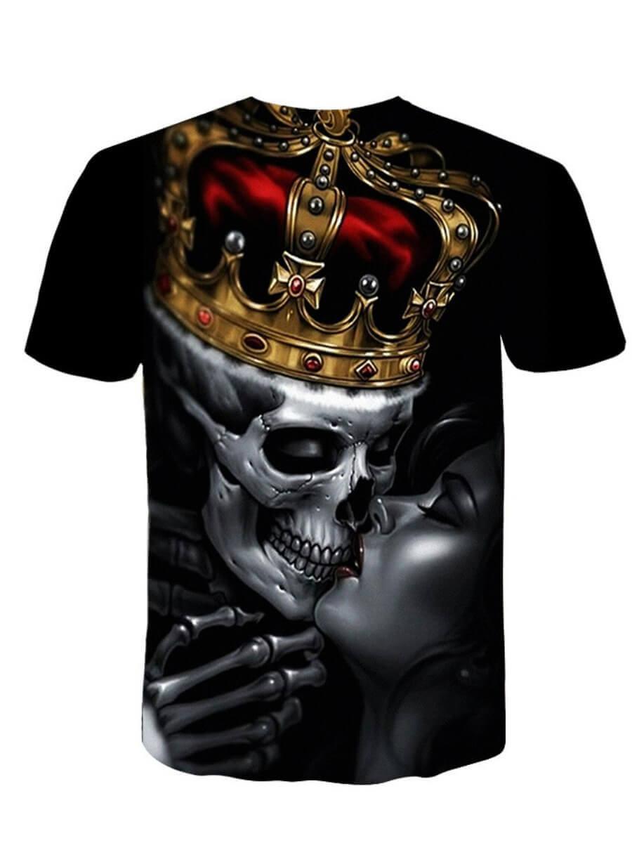 Lovely Men Street O Neck Print Black T-shirt