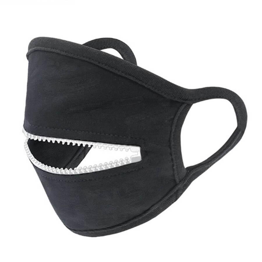 lovely Zipper Design White Face Mask