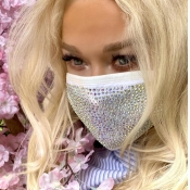lovely Hot Drilling Decorative White Face Mask