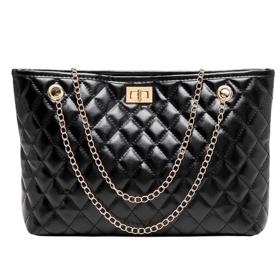 Lovely Casual Chain Strap Black Crossbody Bag