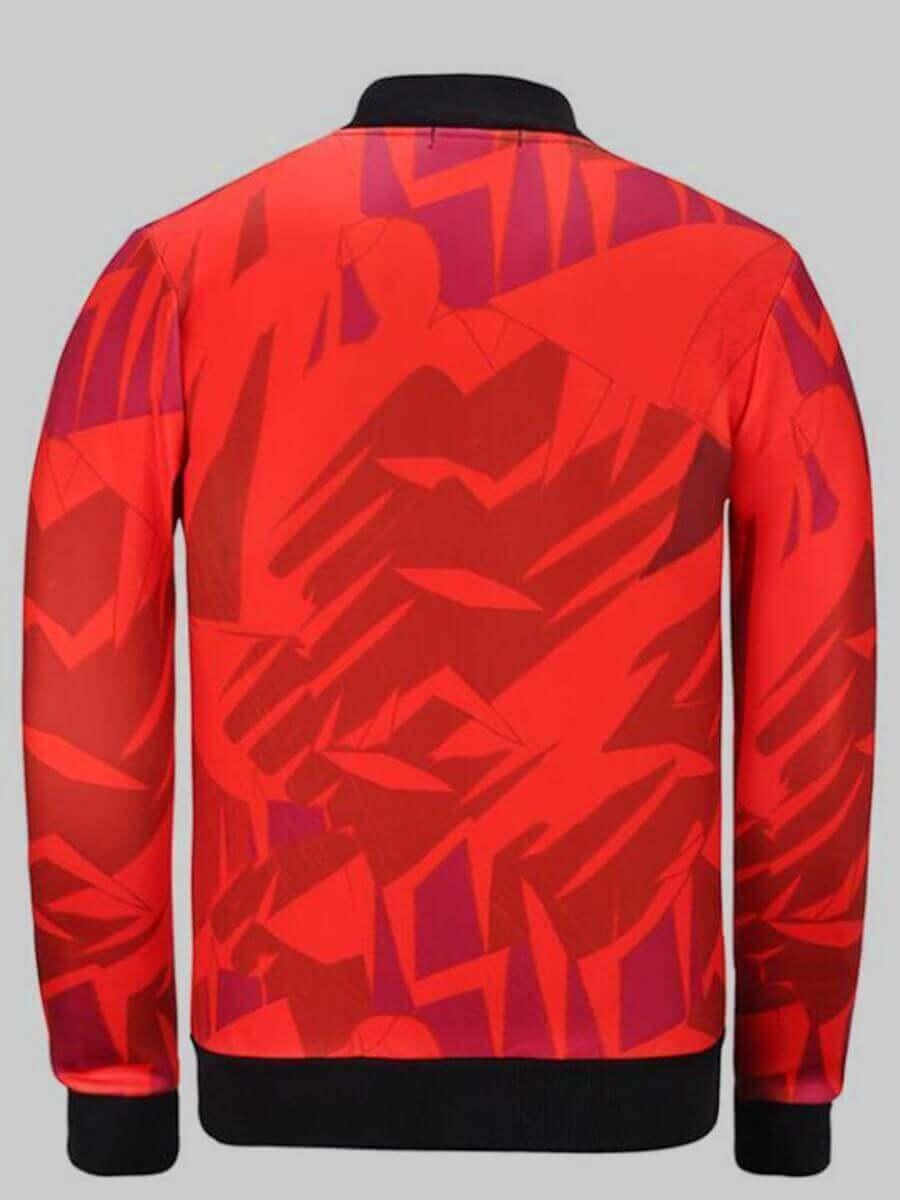 Lovely Street Print Red Jacket