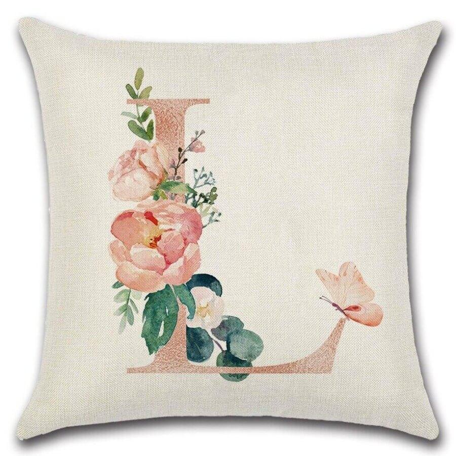 lovely Chic Plants Print Light Pink Decorative Pillow Case