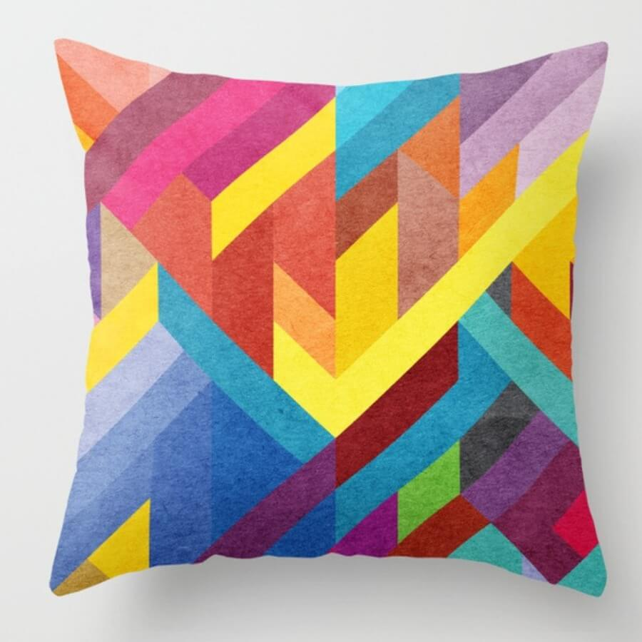 lovely Trendy Print Multicolor Decorative Pillow Case