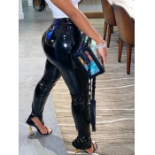 Lovely Stylish Heap Skinny Black Pants