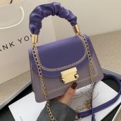 Lovely Trendy Patchwork Purple Crossbody Bag