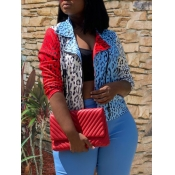 lovely Stylish Patchwork Leopard Print Jacket