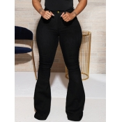 lovely Casual Basic Black Jeans