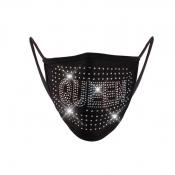 lovely Hot Drilling Decorative Black Face Mask