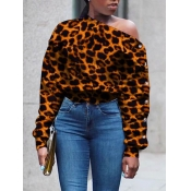 lovely Trendy Leopard Print Hoodies