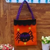 Lovely Chic Skull Print Patchwork Orange Gift Bag