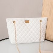 lovely Casual Chain Strap White Crossbody Bag