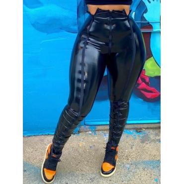 Lovely Street Skinny Black Pants