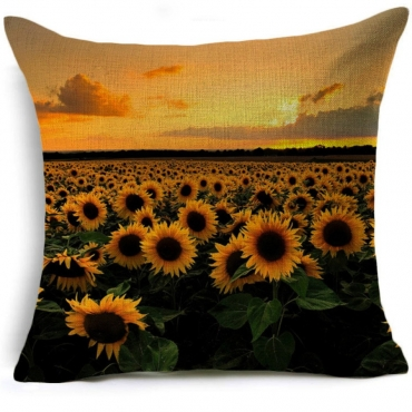 Lovely Stylish Print Yellow Decorative Pillow Case