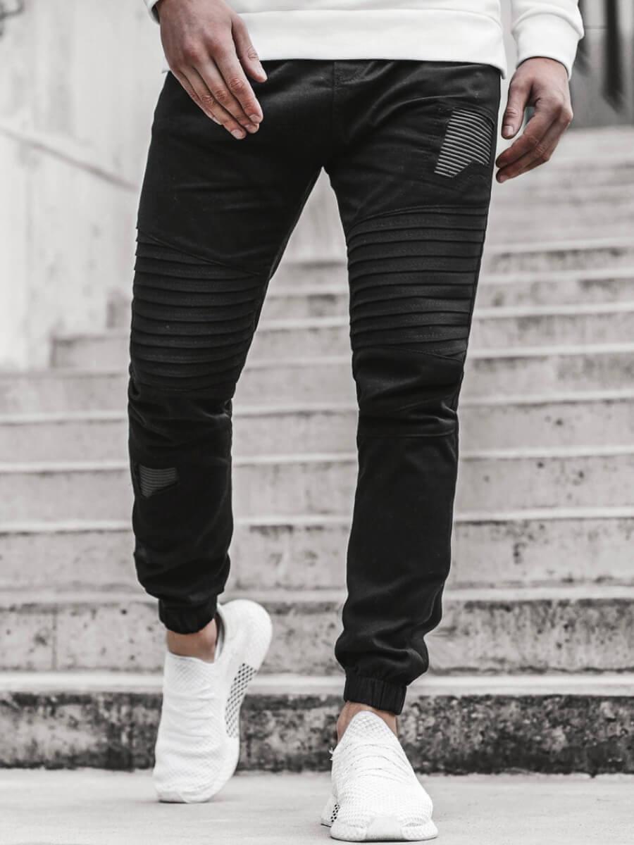 LW Lovely Casual Patchwork Black Men Pants