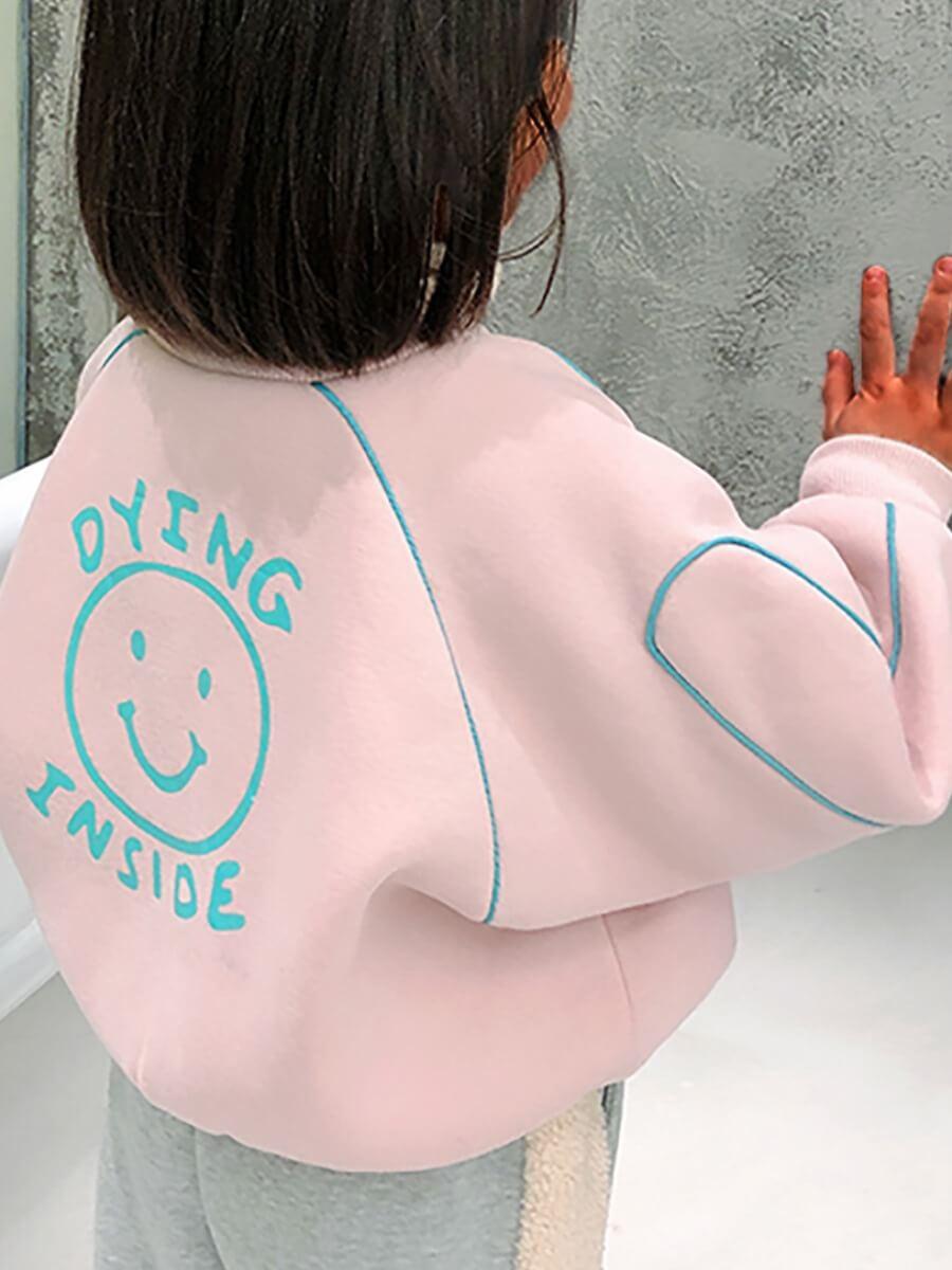 LW Lovely Street Print Pink Girl Coat