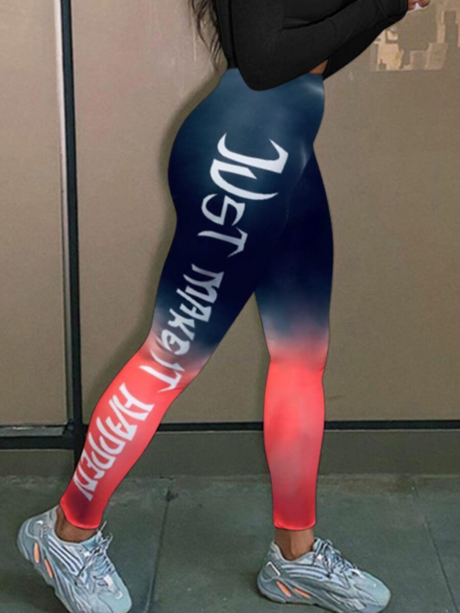 Lovely Sportswear Gradient Print Pants