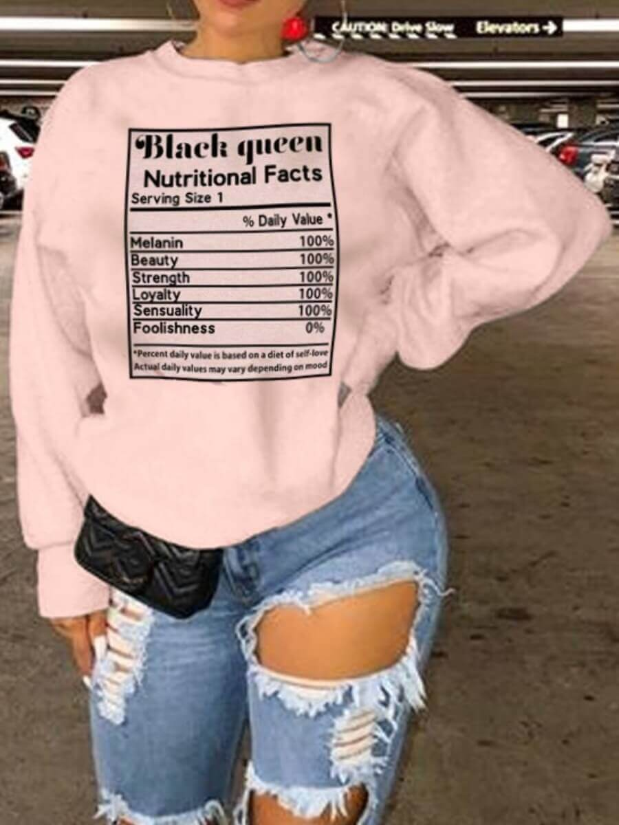 LW Lovely Casual O Neck Letter Print Pink Hoodie