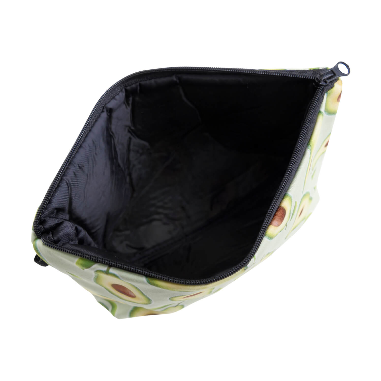 Lovely Trendy Print Green Makeup Bag