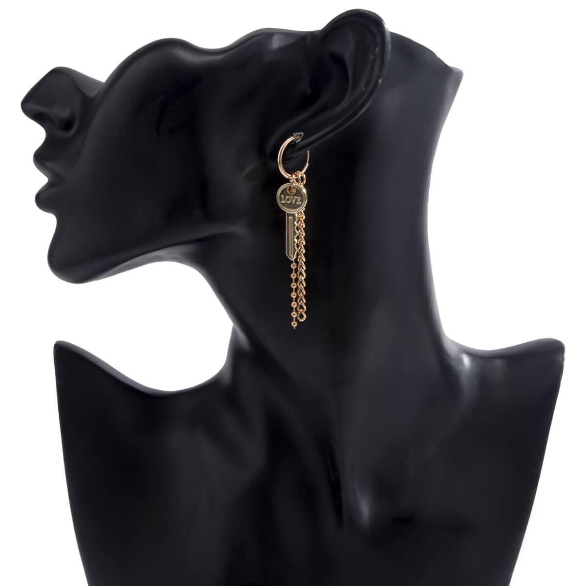 Lovely Trendy Key Gold Earring