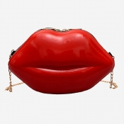 Lovely Trendy Lip Red Crossbody Bag