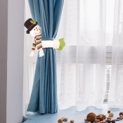 lovely Christmas Day Cartoon Green Decorative Curt