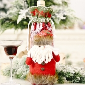 lovely Christmas Day Cartoon Red Wine Bag