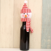 lovely Christmas Day Cartoon Red Decorative Wine B