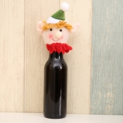lovely Christmas Day Cartoon Green Decorative Wine