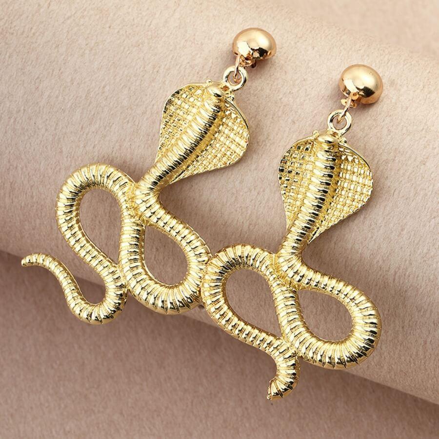 Lovely Chic Snake Gold Earring