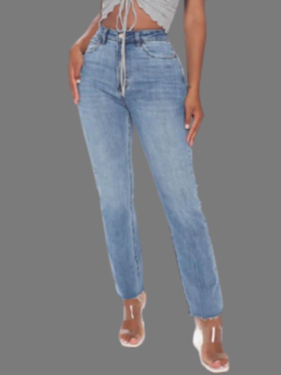 LW Lovely Casual Basic Skinny Blue Jeans