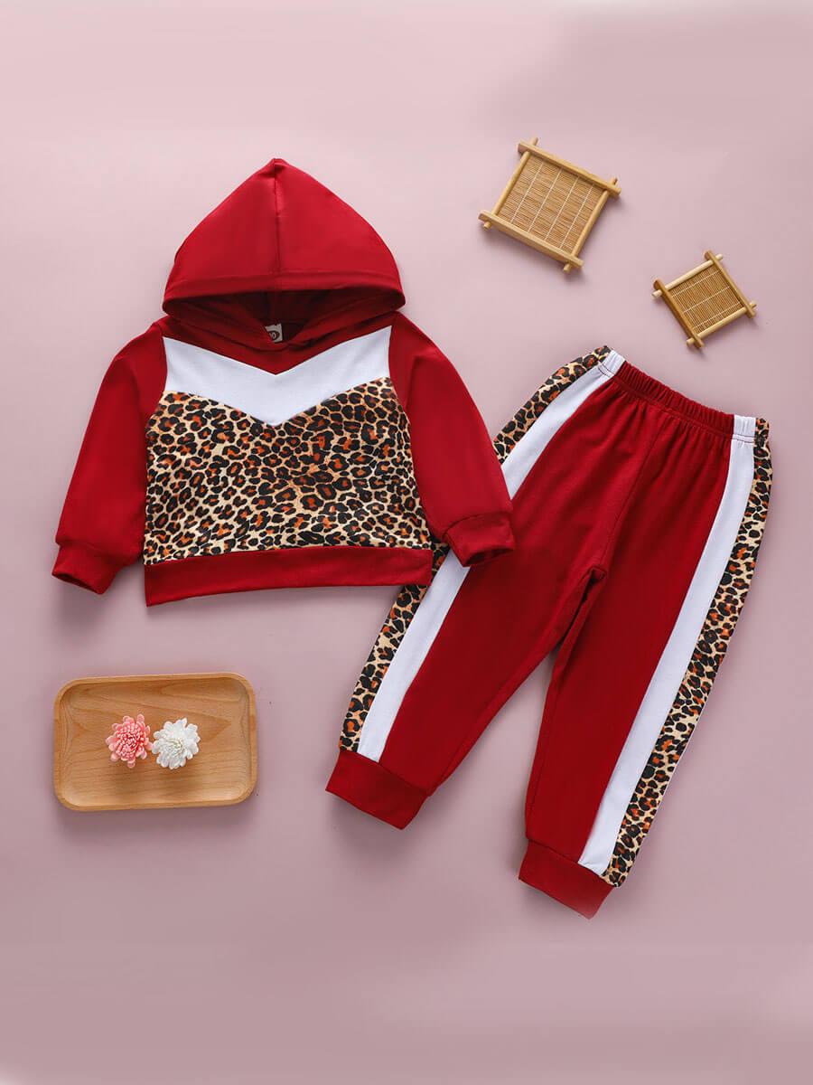 Lovely Sportswear Hooded Collar Leopard Print Patc