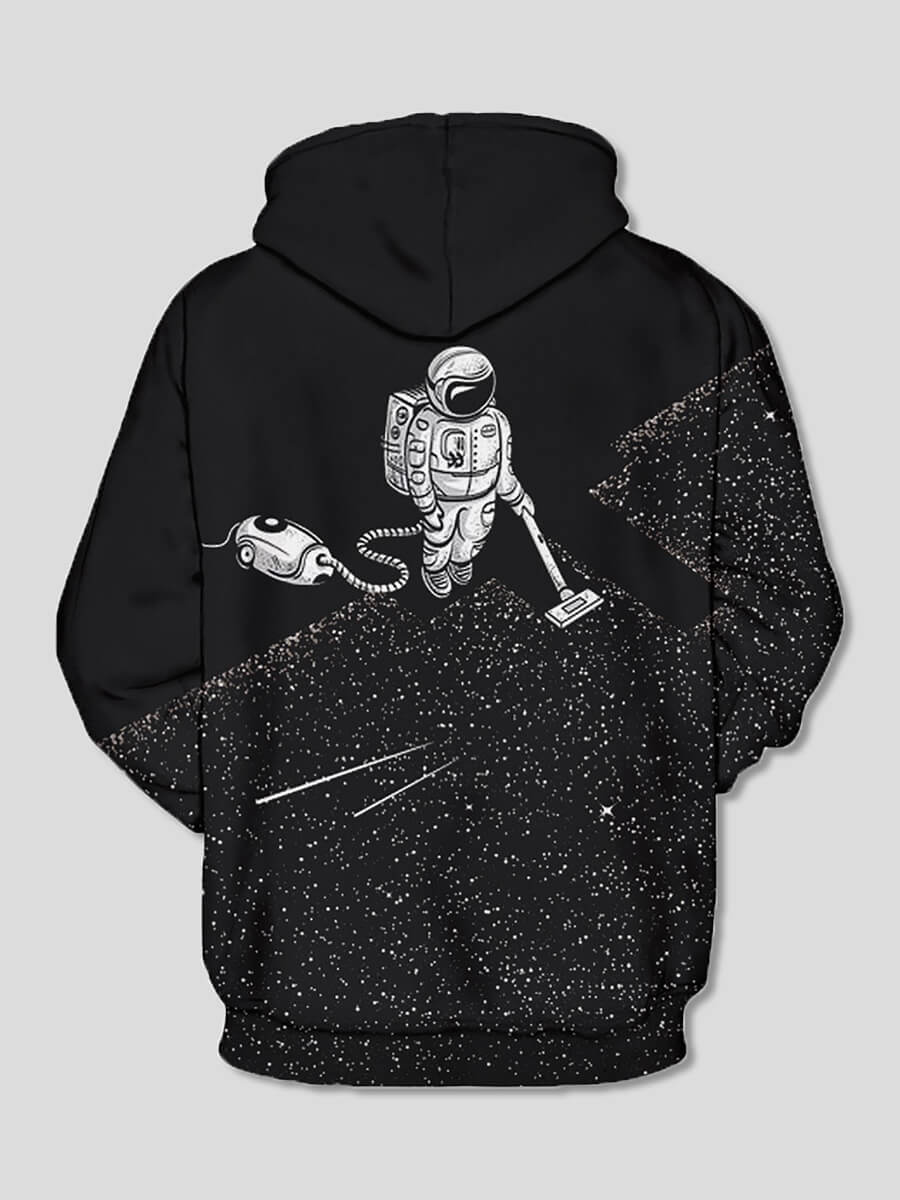 Lovely Street Astronaut Print Patchwork Black Boy