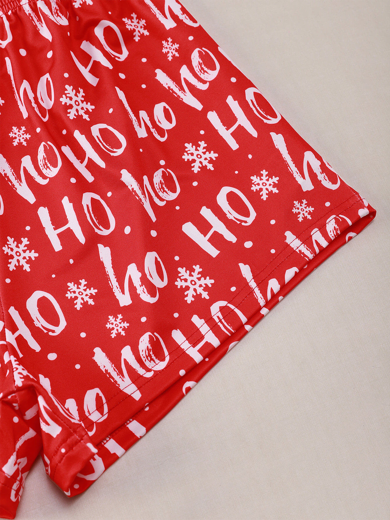 Lovely Christmas Print Red Sleepwear