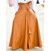 Lovely Formal Belt Design Loose Brown Floor Length