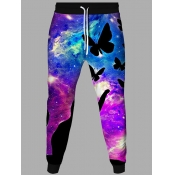 Lovely Street Starry Sky Print Multicolor Men Pant