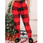 Lovely Trendy Christmas Day Drawstring Red Pants