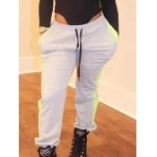 Lovely Sportswear Drawstring Loose Grey Pants