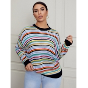 Lovely Street Dropped Shoulder Striped Patchwork B