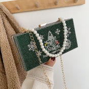 Lovely Trendy Christmas Day Pearl Decoration Green