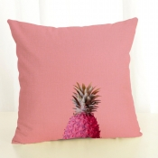 Lovely Casual Pineapple Print Rose Red Decorative