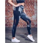 Lovely Sportswear Camo Print Mesh Patchwork Leggin