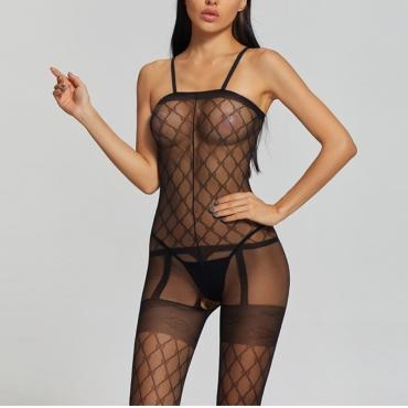 Lovely Sexy See-through Black Bodystocking