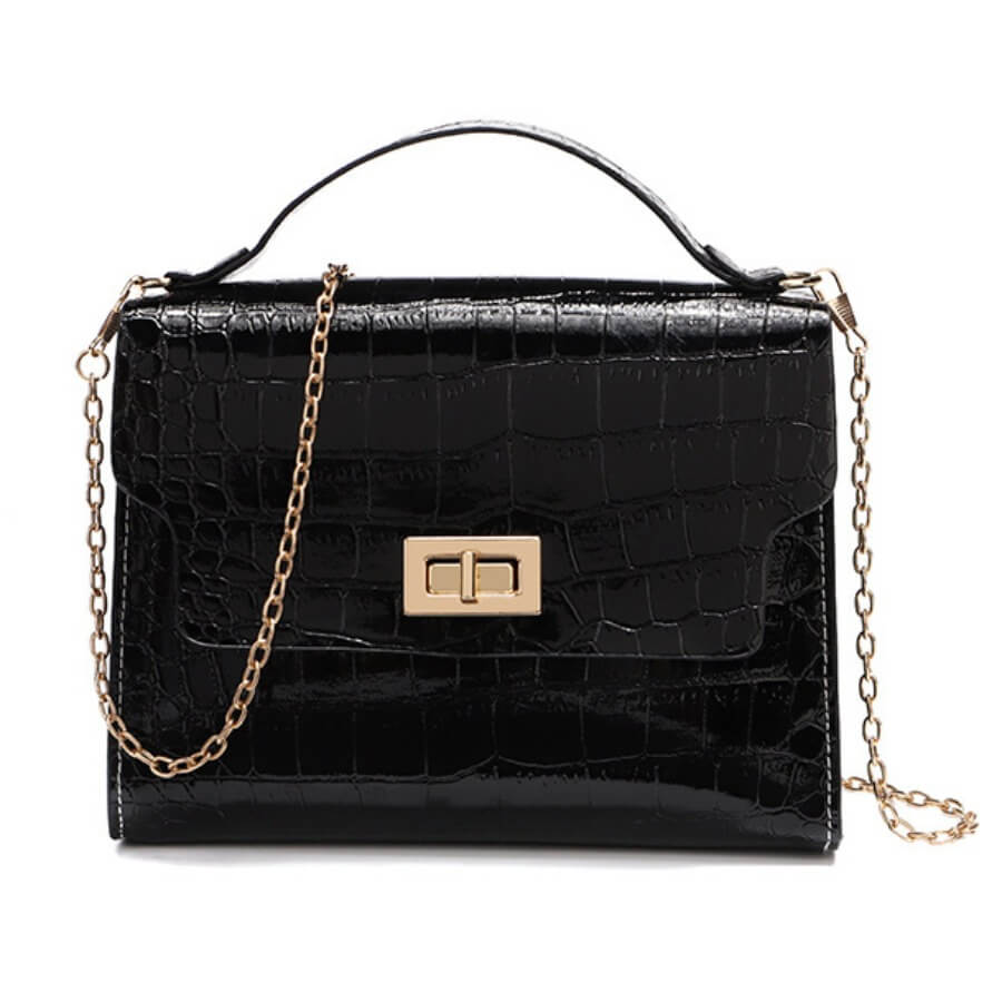Lovely Casual Metal Accessories Decoration Black Crossbody Bags
