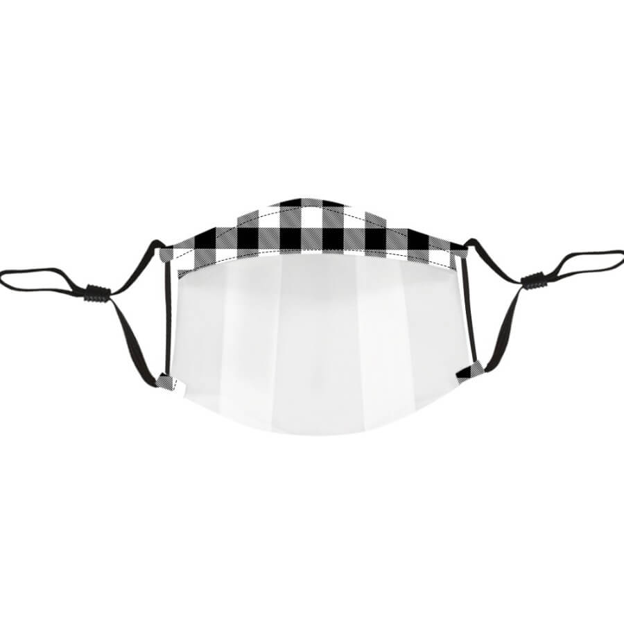 Lovely Casual Plaid Print Black And White Face Mask