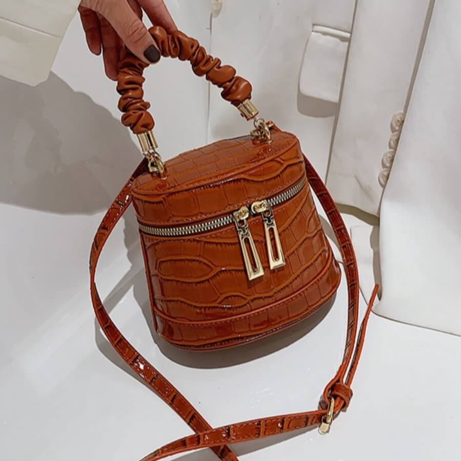 Lovely Casual Metal Accessories Decoration Brown Crossbody Bag