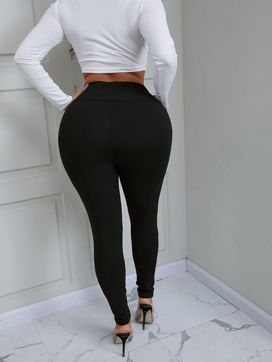 Lovely Casual Mid Waist Drawstring Black Pants