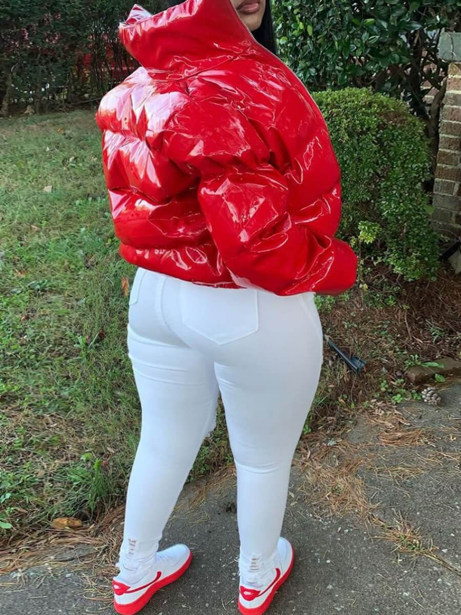 LW Plus Size Street High-waisted Ripped White Jeans