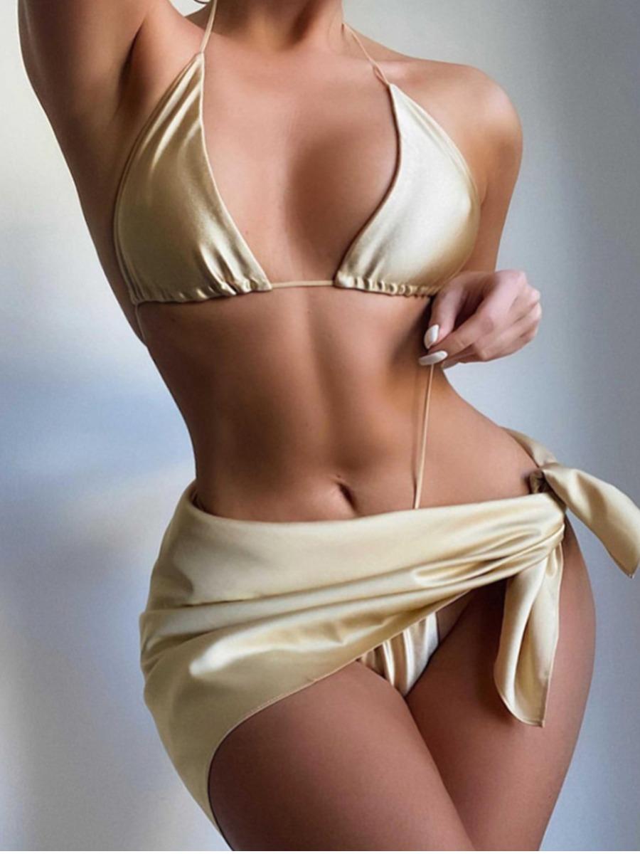 Lovely Boho Bandage Fold Design Apricot Cover-up